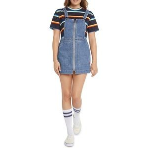 NWT Dolls Kill Dickies Zip- Up Overall Dress Large